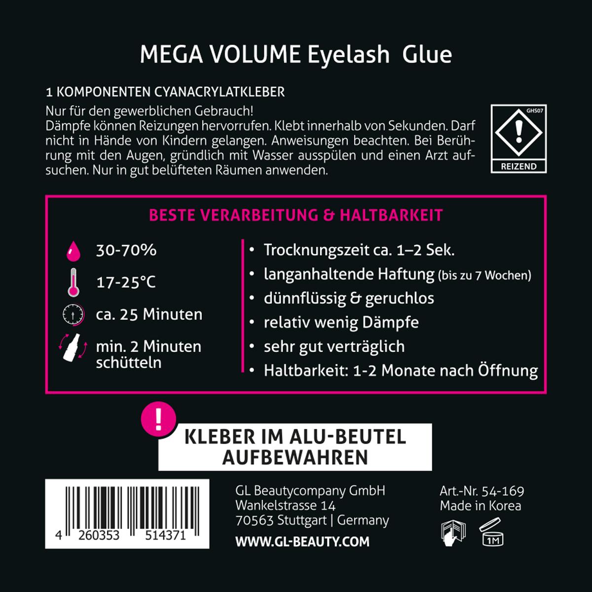Mega Volume Eyelash Glue Speed Glue GL Beauty Lashes